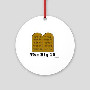 Big 10 Round Ornament