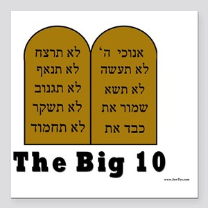 "Big 10 Square Car Magnet 3"" x 3"""