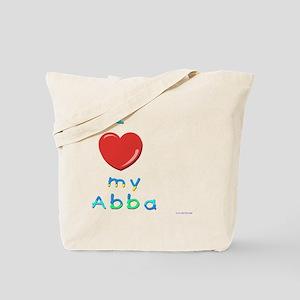 I love my abba Tote Bag