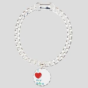 I love my abba Charm Bracelet, One Charm