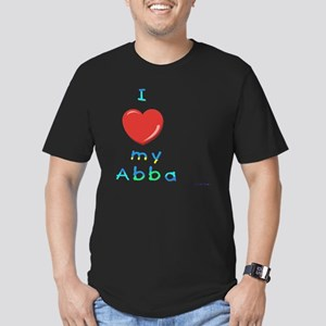 I love my abba Men's Fitted T-Shirt (dark)