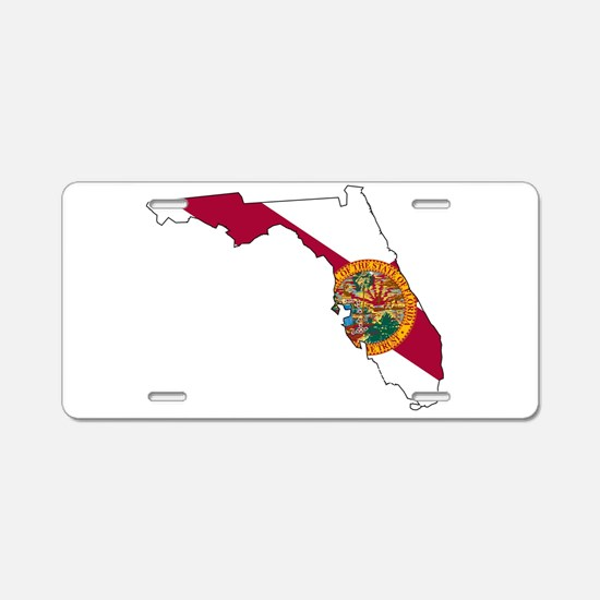Florida State Outline Map a Aluminum License Plate