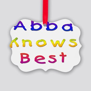 Abba Knows Best Picture Ornament