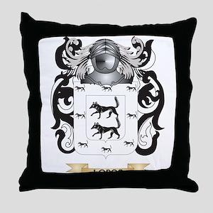 Lobos Coat of Arms - Family Crest Throw Pillow