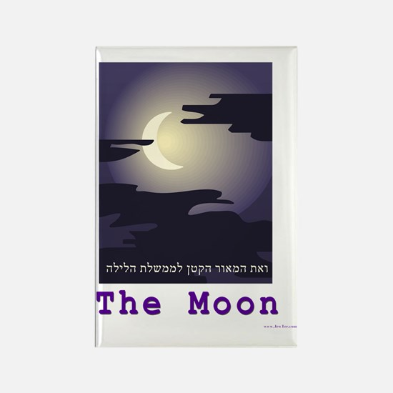 The moon Rectangle Magnet