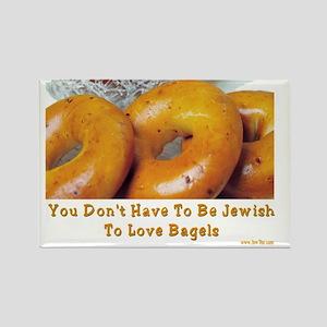 Love Bagels Rectangle Magnet