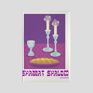 Shabbat Shalom Rectangle Magnet