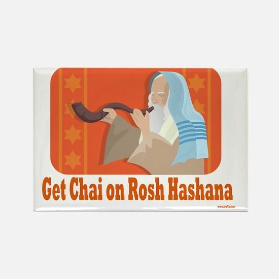 Get Chai Rosh Hashana Rectangle Magnet