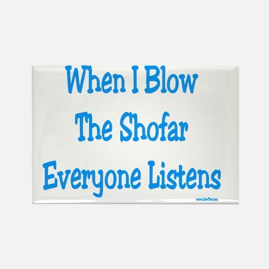 Blow Shofar Rectangle Magnet