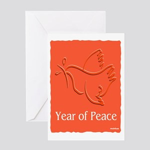 Year Of Peace Greeting Card