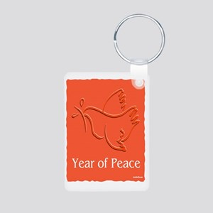 Year Of Peace Aluminum Photo Keychain