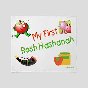 My First Rosh Hashanah Throw Blanket