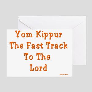Yom Kippur Fast Track Greeting Card
