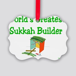 worlds greatest succah builder Picture Ornament
