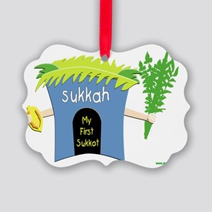 my first sukkot Picture Ornament