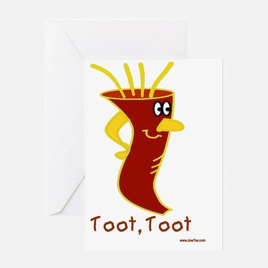 toot, toot Shofar Greeting Card