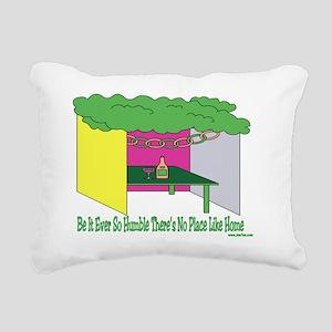 Humble Home Sukkah Rectangular Canvas Pillow