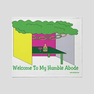 Humble Abode Sukkah Throw Blanket