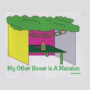 My Other House Is A Mansion Throw Blanket