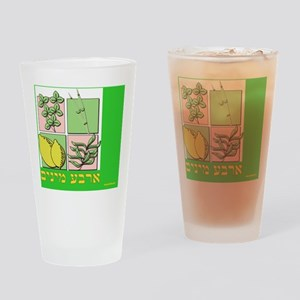 arba minim sukkah poster Drinking Glass