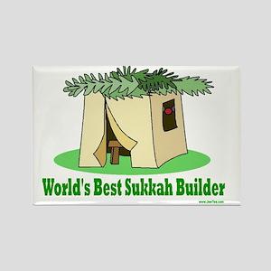 Worlds Best Sukkah Builder Rectangle Magnet
