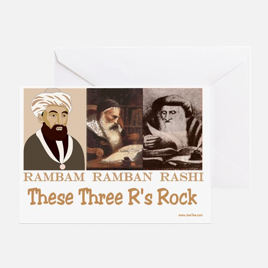 These Three Jewish Rs Rock Greeting Card