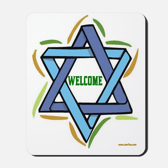 Welcome to My Sukkah Mousepad