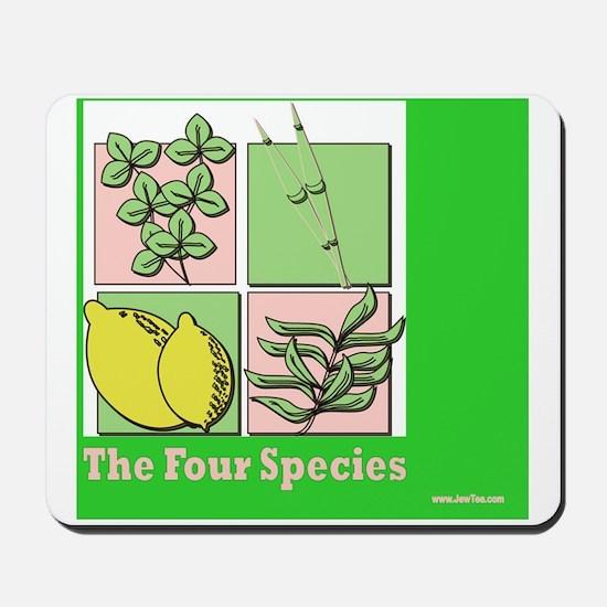 Te Four Species Succah Poster Mousepad