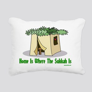 Home is Where the Sukkah Rectangular Canvas Pillow