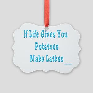 Make Latkes Picture Ornament