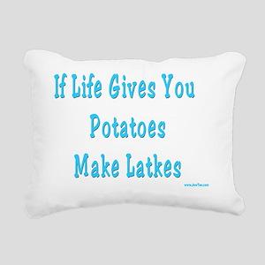 Make Latkes Rectangular Canvas Pillow