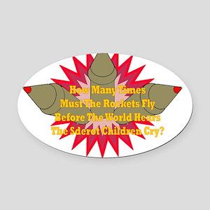 Sderot Cries Oval Car Magnet