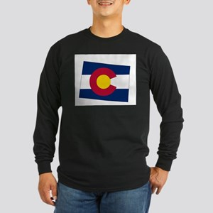 Colorado State outline Map and Long Sleeve T-Shirt