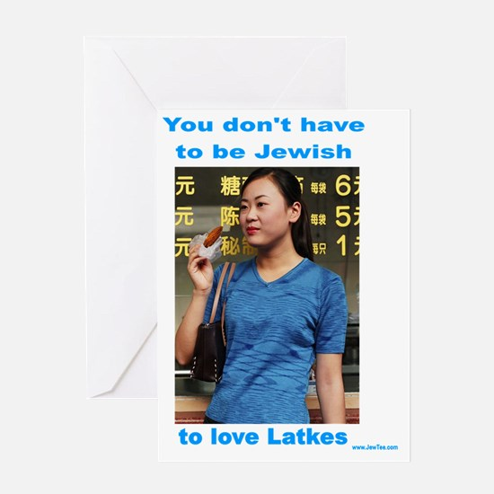 Everyone loves latkes Greeting Card