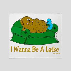 Couch potato latke Throw Blanket