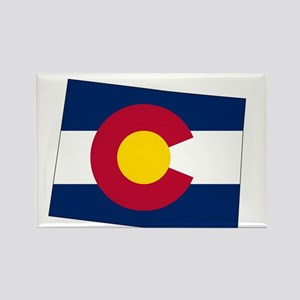 Colorado State outline Map and Flag Magnets