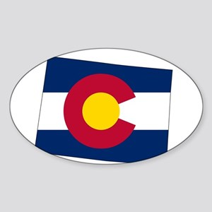 Colorado State outline Map and Flag Sticker