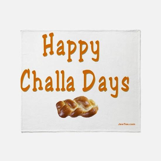 Happy Challa Days flat Throw Blanket