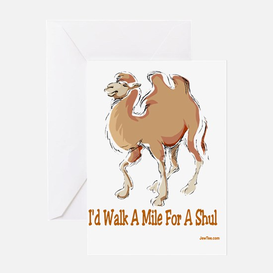 Walk Mile for Shul Greeting Card