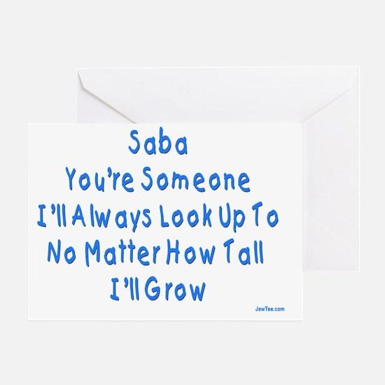 Look up to Saba Greeting Card