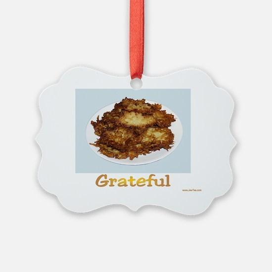 Grateful Hanukkah Latkes Ornament