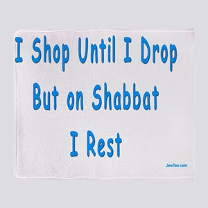 I Dont Shop on Shabbat Throw Blanket