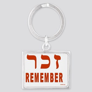 Remember the Holocaust Landscape Keychain