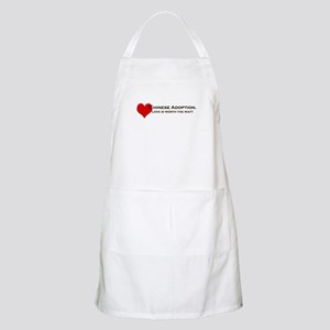 Chinese Adoption Love is Worth the Wait BBQ Apron