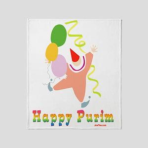 Happy Purim Multi flat Throw Blanket