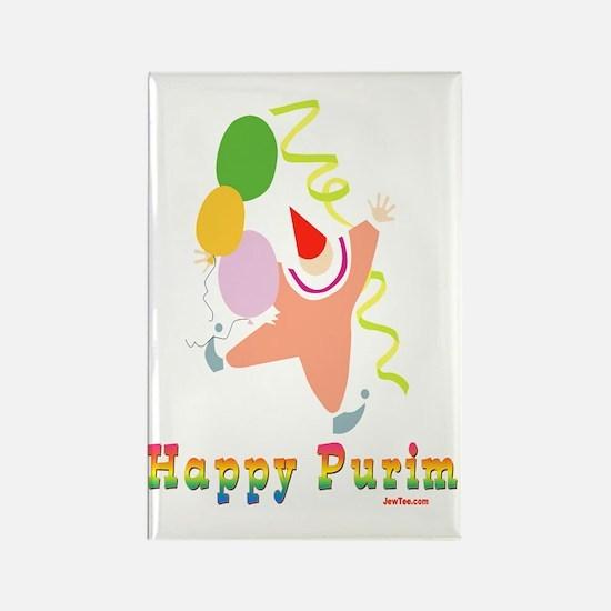 Happy Purim Multi flat Rectangle Magnet