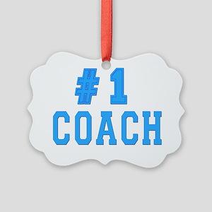 #1 coach Picture Ornament
