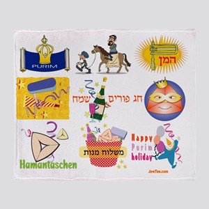 Purim collage Throw Blanket