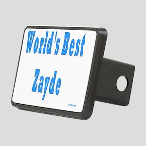 worlds best zayde Rectangular Hitch Cover