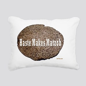 haste makes matzah 2flat Rectangular Canvas Pillow